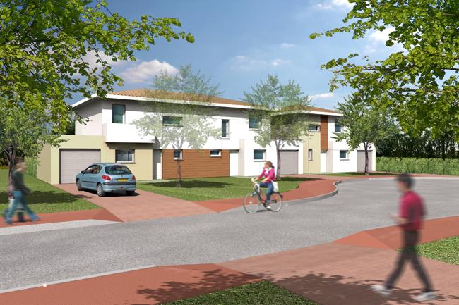 Construction de 31 logements individuels le pian m doc 33 for Garage fiat pian medoc